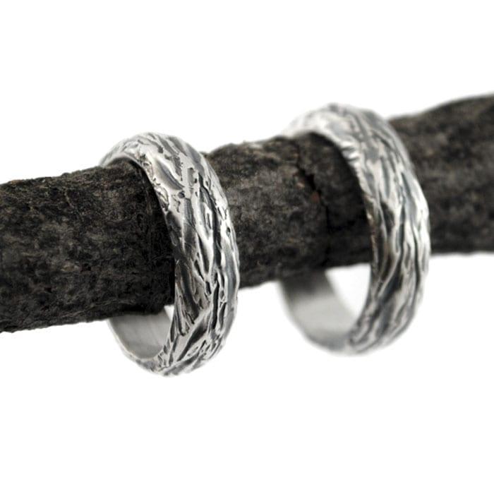 alianzas de plata organizas, anillos de boda