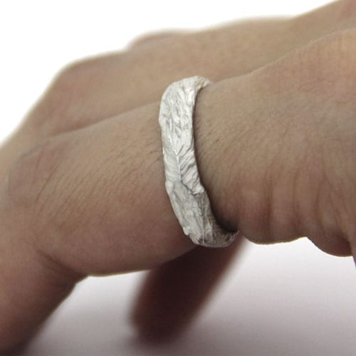 Silver engagement ring Wolf