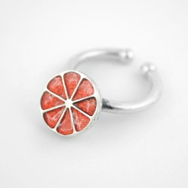 Silver Ring – Half Grapefruit, Orange