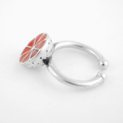 Silver Ring – Half Grapefruit, Orange
