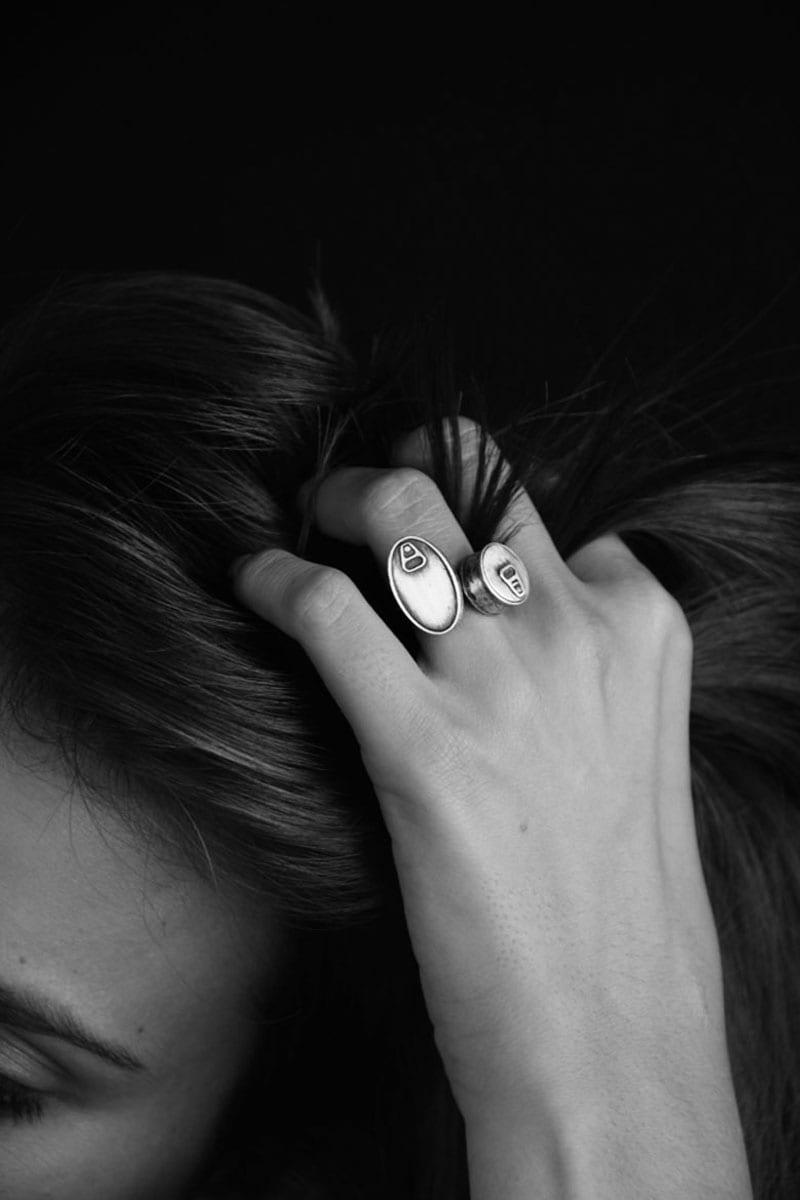 anillos de plata latas de sardinas