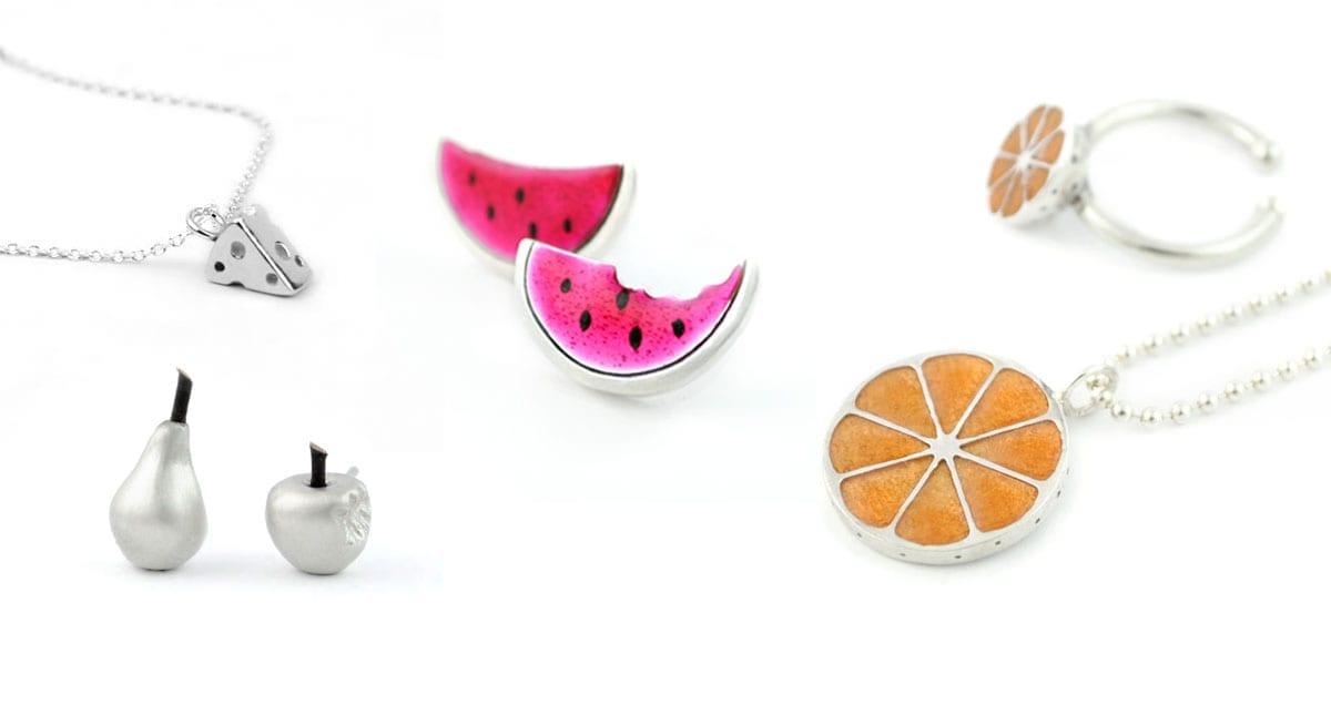 joyas sabrosas, queso, sandía, naranja, manzana, pera