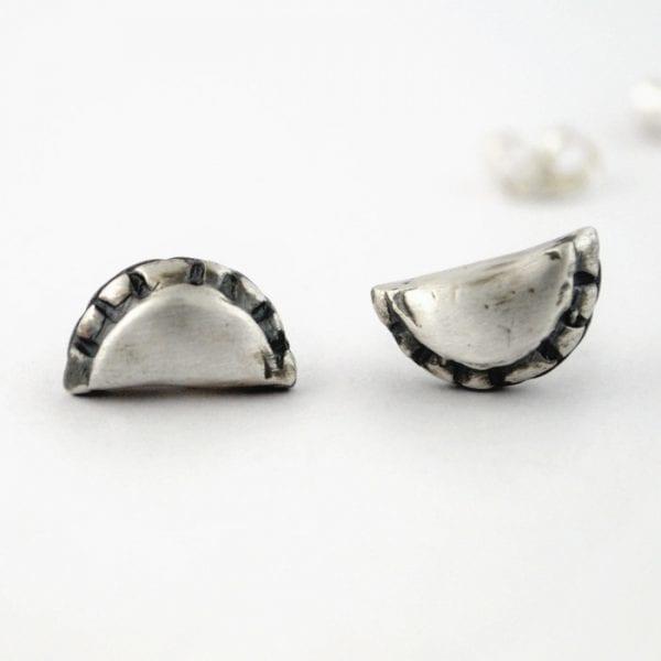 pendientes de plata empanadillas
