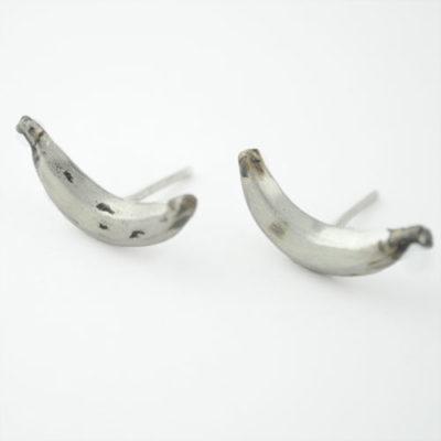 pendientes de plata plátanos