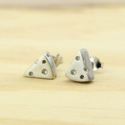 Cheese silver earrings
