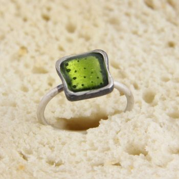 Silver Ring and Enamel, Toast Bread, Jam