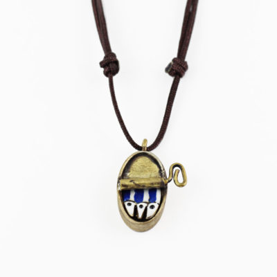 Brass Contemporary necklace, Sardines Can