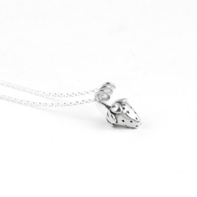 Silver Choker Necklace, Strawberry