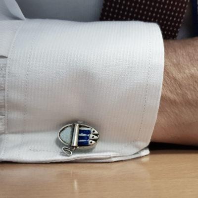 Silver cufflinks, Sardines Tin can