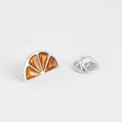 pin de plata naranja
