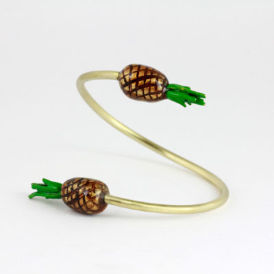 Brass bracelet Enamel – Pineapples