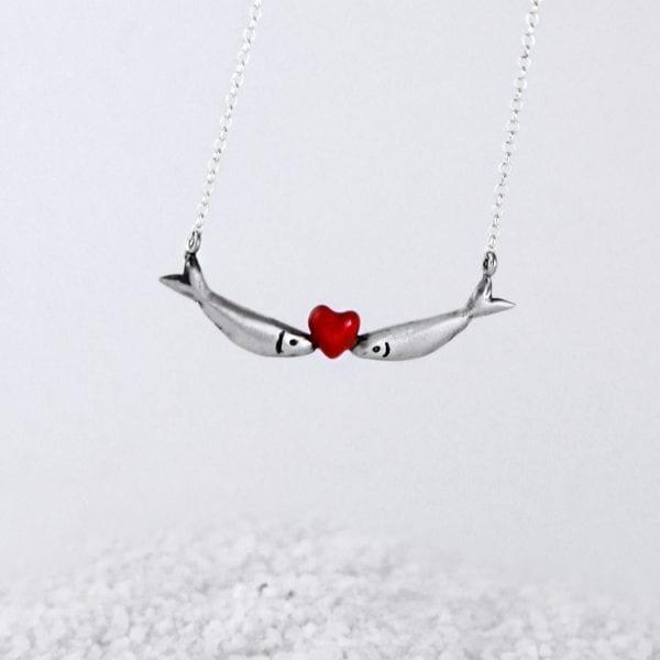 Gargantilla de plata Sardinas Love