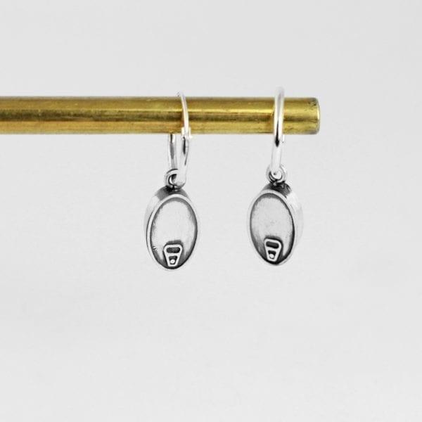 Silver earrings hoop, Tin Can